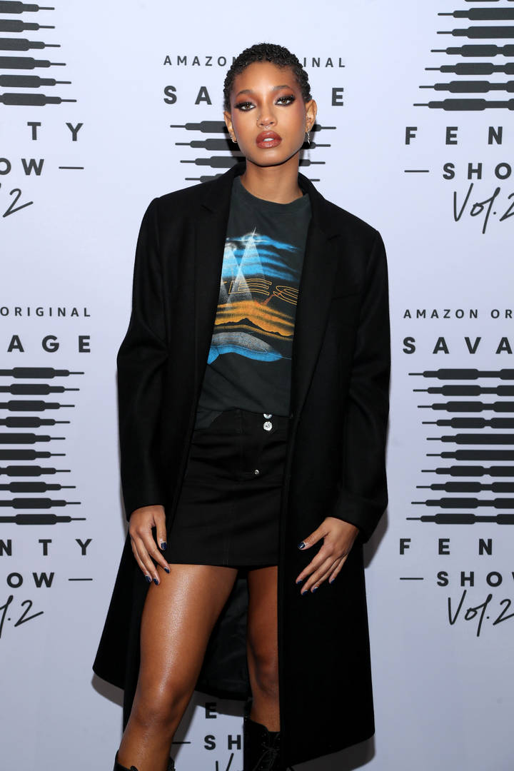In this image released on October 2, Willow Smith attends Rihanna's Savage X Fenty Show Vol. 2 presented by Amazon Prime Video at the Los Angeles Convention Center in Los Angeles, California; and broadcast on October 2, 2020.