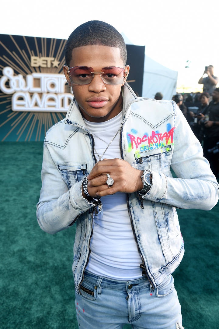 YK Osiris attends the 2019 Soul Train Awards presented by BET at the Orleans Arena on November 17, 2019 in Las Vegas, Nevada.