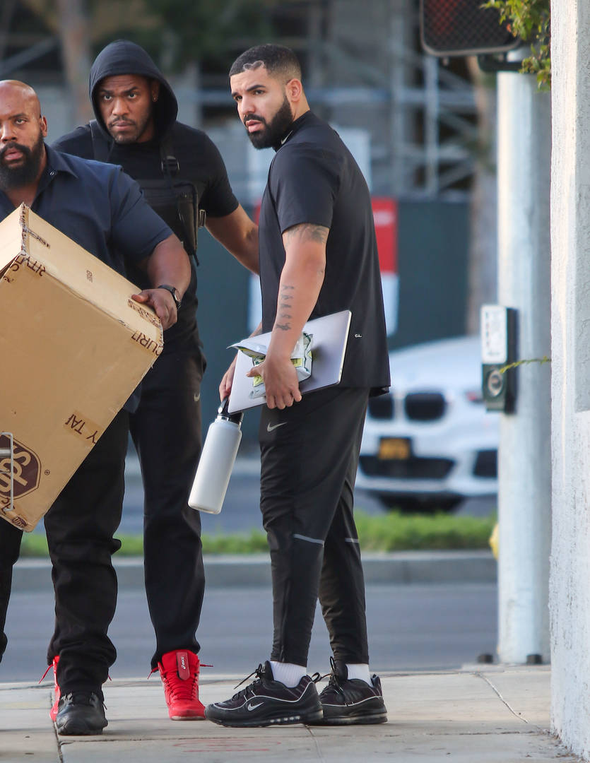 Drake is seen on May 27, 2021 in Los Angeles, California.
