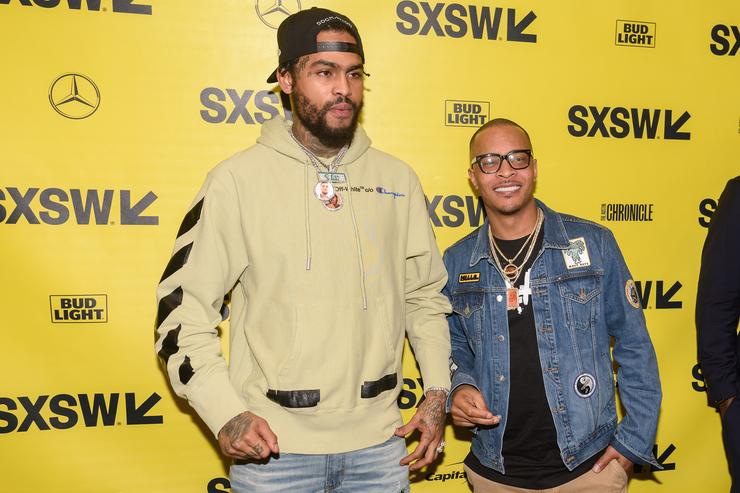 Dave East and T.I. attend the red carpet premiere of 'Rapture' during SXSW 2018 at Paramount Theatre on March 17, 2018 in Austin, Texas