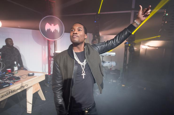 Meek Mills performs during the Bacardi untamable house party on November 20, 2015 in Atlanta, Georgia.