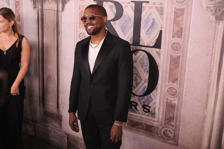 000d3c0594b Kanye West attends the Ralph Lauren fashion show during New York Fashion  Week at Bethesda Terrace