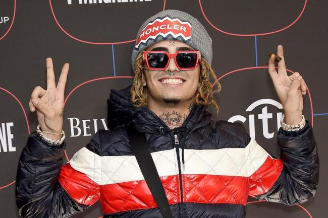 Lil Pump arrives at the Warner Music Group Pre-Grammy Celebration at Nomad Hotel Los Angeles on February 7, 2019 in Los Angeles, California.