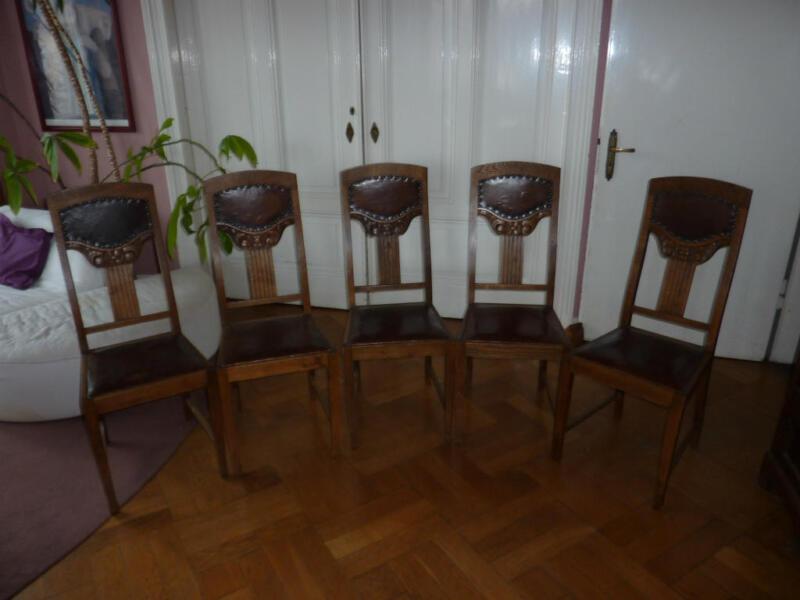 5 antike EsszimmerSthle als Stuhlgruppe in Mnster  MnsterCentrum  Sthle gebraucht kaufen