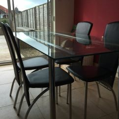 Dining Room Table And Chairs Gumtree Folding Bulk Glass Four United Kingdom