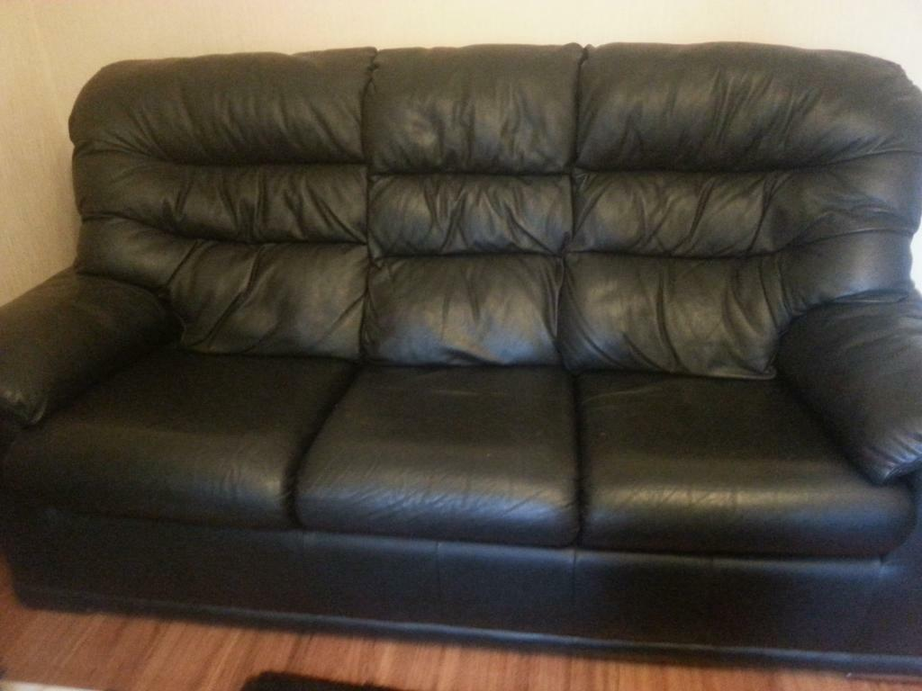 black leather sofas on gumtree custom slipcovers for sofa beds 3x1x1 g plan great condition united