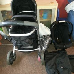 Mothercare Travel High Chair Booster Seat Gordon Tufted Xpedior System Black In Very Good