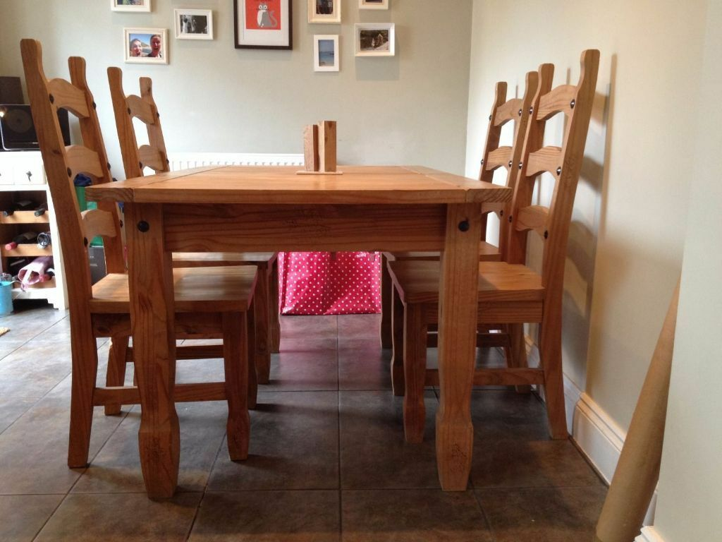 mexican dining room table and chairs cushions for pine 6 buy sale trade ads