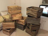 1 VINTAGE WOODEN APPLE CRATES STORAGE BOX FRUIT CRATES BOX ...