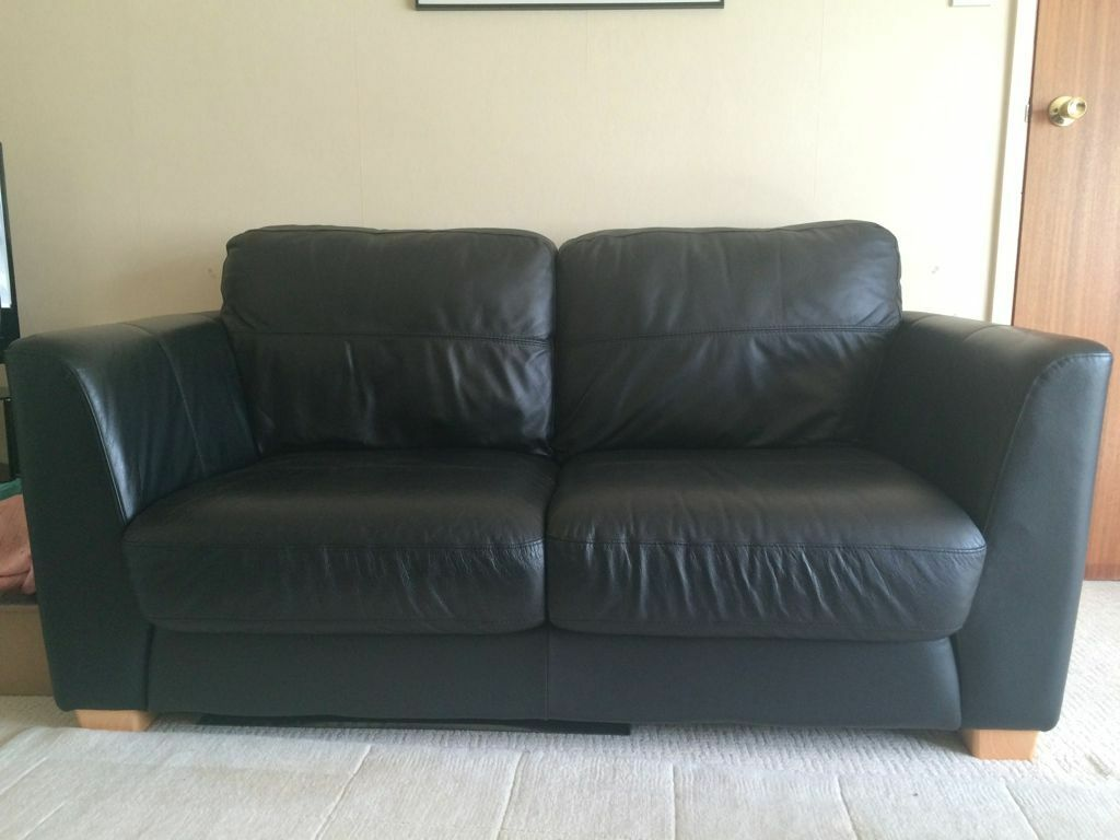 black leather sofas on gumtree round sofa settee large two seater in excellent condition