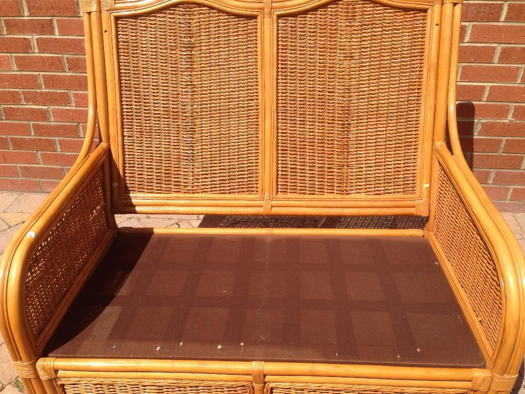 rattan 2 seater sofa cover beds shops exeter cane conservatory in buy sale and trade ads