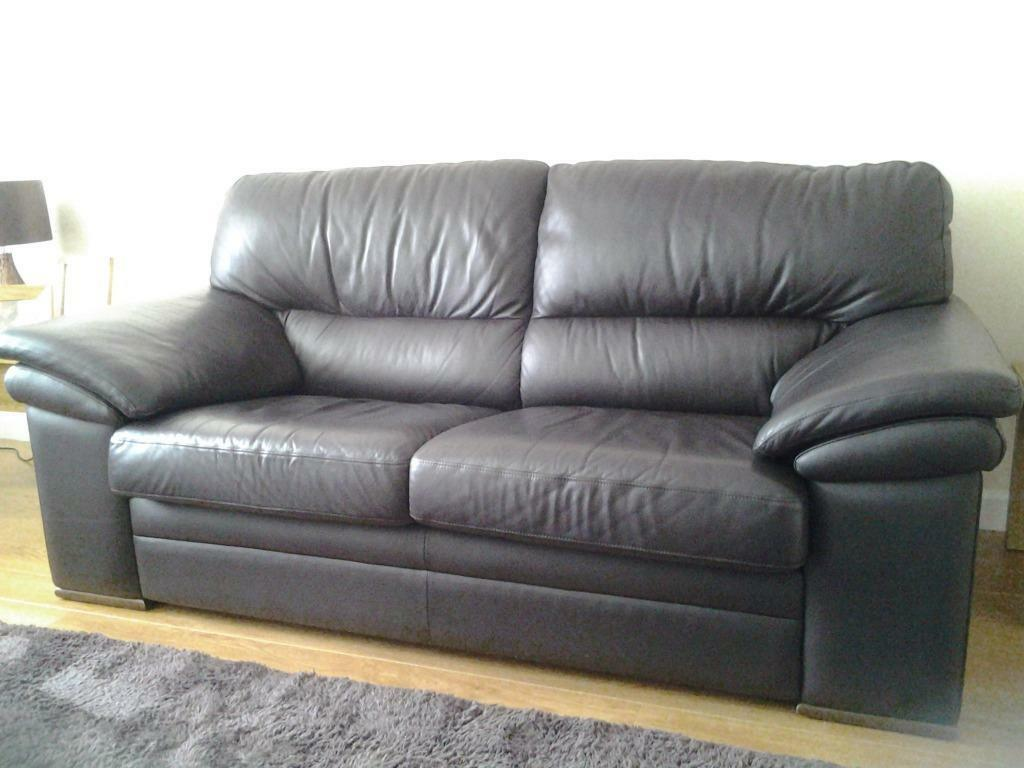 leather sofas glasgow area oversized sectional with recliners two great condition now sold united