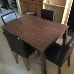 Ikea Wooden Dining Table 4 Chairs Recovering Chair Cushions Leather Buy Sale And Trade Ads
