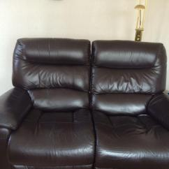 Lazy Boy Chairs For Sale Portable Massage Sofa Brown Soft Leather 2 Seater With Recliners