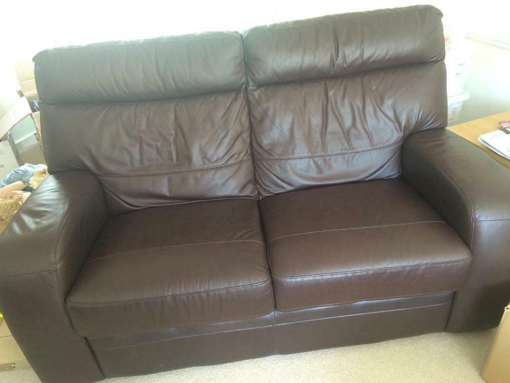 two seater recliner sofa gumtree wegner ch163 contemporary brown leather 2 united kingdom