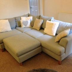 Corner Sofa Dfs Martinez Louis Sky Blue With Poufe United Kingdom Gumtree