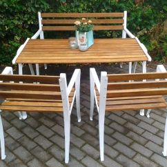 Cast Iron Table And Chairs Gumtree Replica Jens Risom Style Lounge Chair Garden Furniture Set New Buy Sale Trade Ads