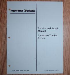 bolens suburban tractor service manual see pictures for models rh ebay com [ 982 x 1176 Pixel ]