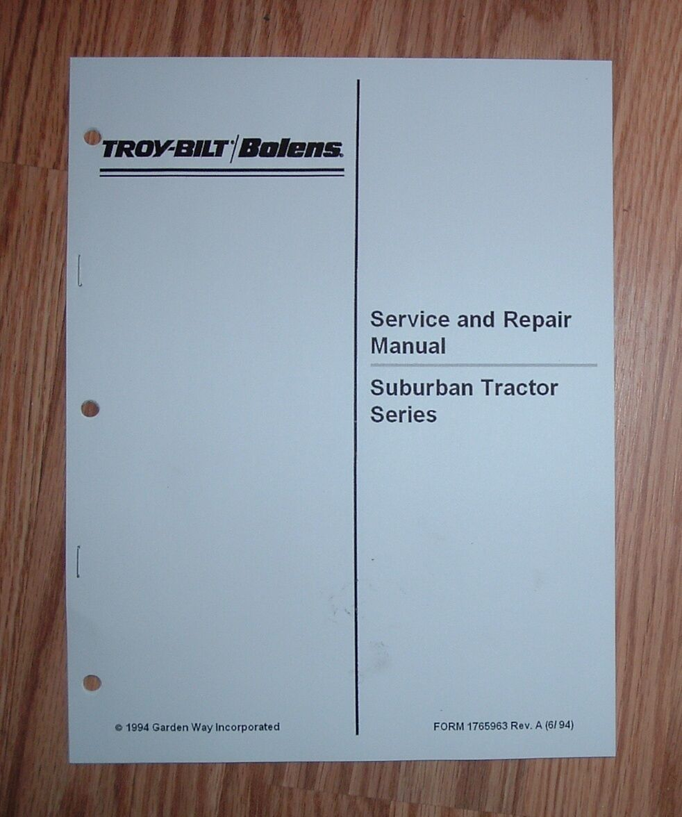 hight resolution of bolens suburban tractor service manual see pictures for models rh ebay com