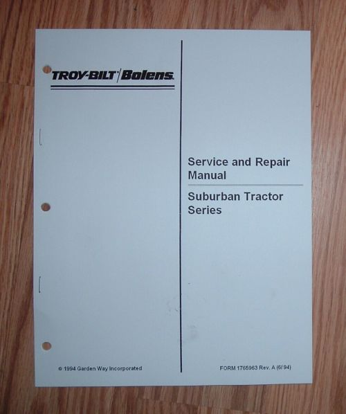 small resolution of bolens suburban tractor service manual see pictures for models rh ebay com