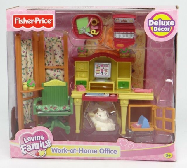 Fisher Loving Family Dollhouse Furniture Work At Home