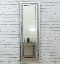Gatsby Crystal Silver Glass Framed Full Long Bevelled Wall ...