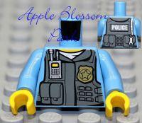 Lego Police Medium Blue Minifig Torso Male Agent Officer ...