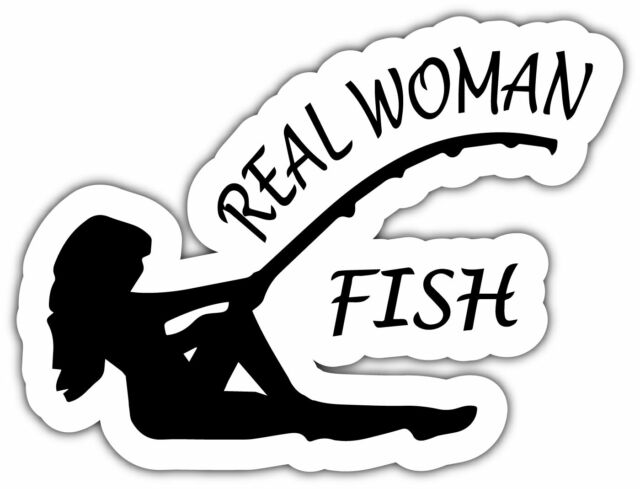 Real Woman Fish Fishing Girl Female Funny Car Bumper Vinyl