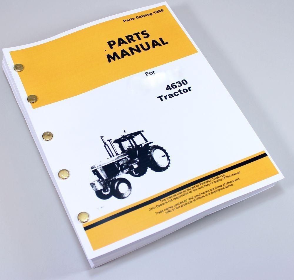 hight resolution of john deere 4630 tractor loader parts manual catalog assembly ebay john deere 4010 wiring schematic john deere 4630 tractor wiring harness