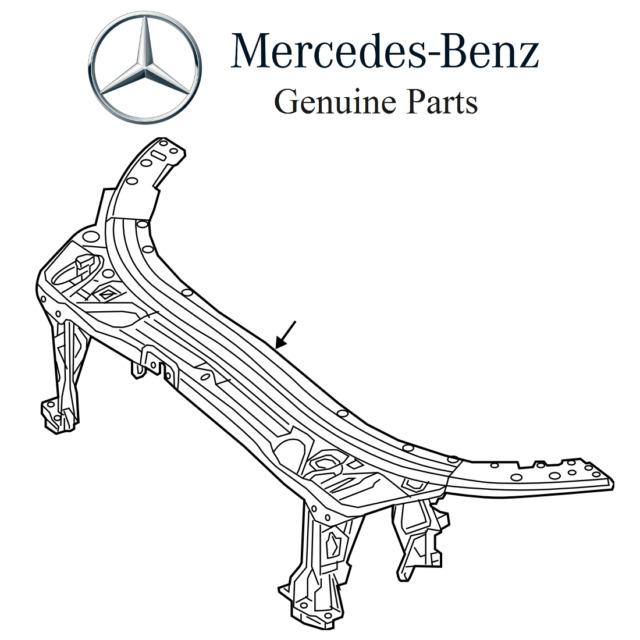 MERCEDES BENZ C Class W205 Upper Radiator Support Assembly