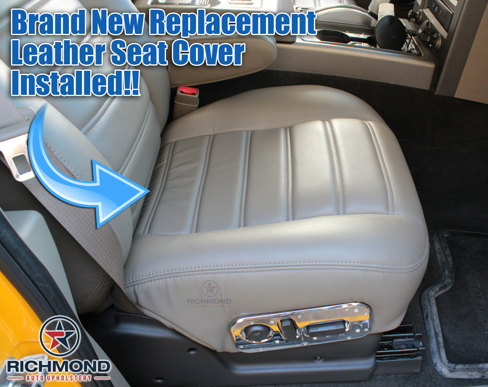 2005 2006 Hummer H2 SUV passenger Bottom Replacement Leather Seat