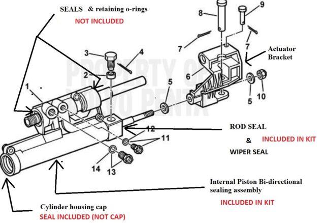 Actuator Repair Kit VOLVO Penta Power Steering 3860726