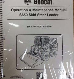 bobcat s650 skid steer loader operation maintenance manual 6987167 rh ebay com s650 bobcat with grapple bucket s150 bobcat manual [ 1072 x 1389 Pixel ]