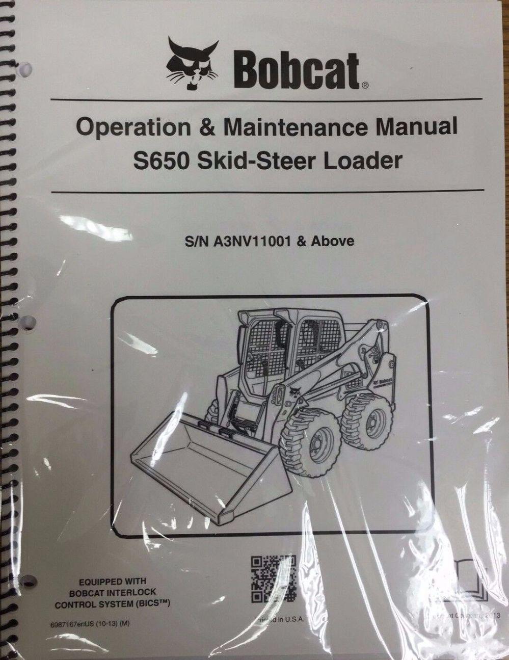 medium resolution of bobcat s650 skid steer loader operation maintenance manual 6987167 rh ebay com s650 bobcat with grapple bucket s150 bobcat manual
