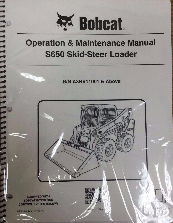 hight resolution of bobcat s650 skid steer loader operation maintenance manual 6987167 rh ebay com s650 bobcat with grapple bucket s150 bobcat manual