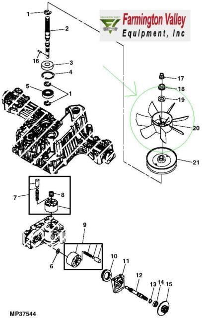 John Deere Scotts Sabre Hydrostatic Transmission Cooling