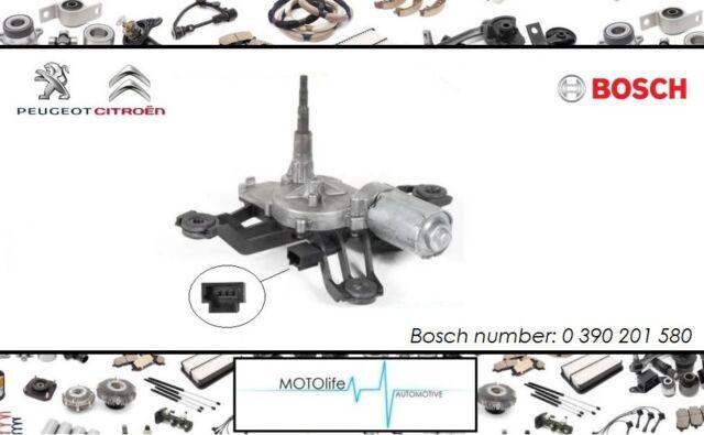 Arrière moteur essuie glace BOSCH 0390201580 Peugeot