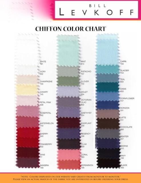 Bill Levkoff Bridesmaid Color Chart Coloringsite