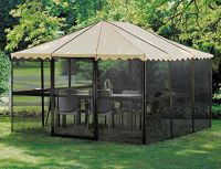 Outdoor Screen House Patio Enclosure Shelter Gazebo Tent ...