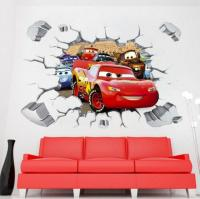 Disney 3d Cars McQueen Mater Removable Wall Stickers Decal ...