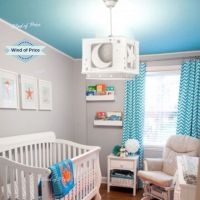 Baby Nursery Ceiling Light Shade Room Newborn Moon Star ...