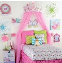 Princess Room Decor for Girls Large Pink Metal Crown