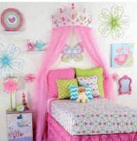 Princess Room Decor for Girls Large Pink Metal Crown ...