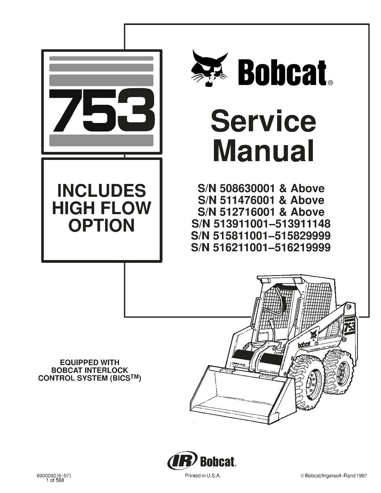 Bobcat 753 Wiring Diagram Manual Image collections