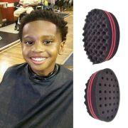 double barber hair sponge brush