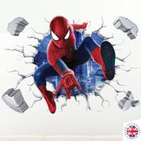 3d Spiderman Wall Sticker Vinyl Art Home Bedroom Marvel ...