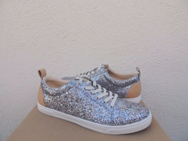 Silver+Glitter+Tennis+Shoes