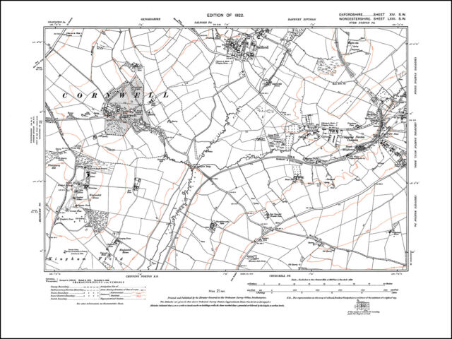 Chipping Norton West Cornwell Salford Old Map Oxfordshire