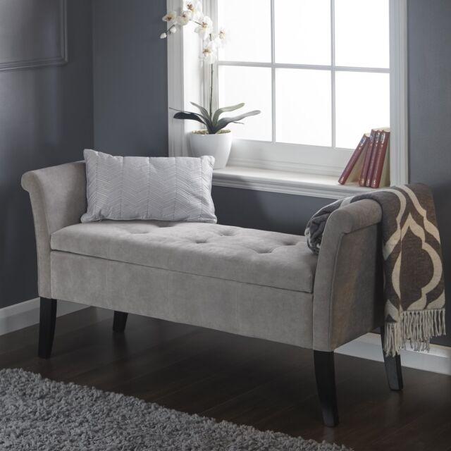Shabby Chic Storage Seat Bench Furniture Bedroom Vintage