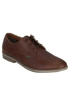 Brown Leather Slip On Shoes Mens